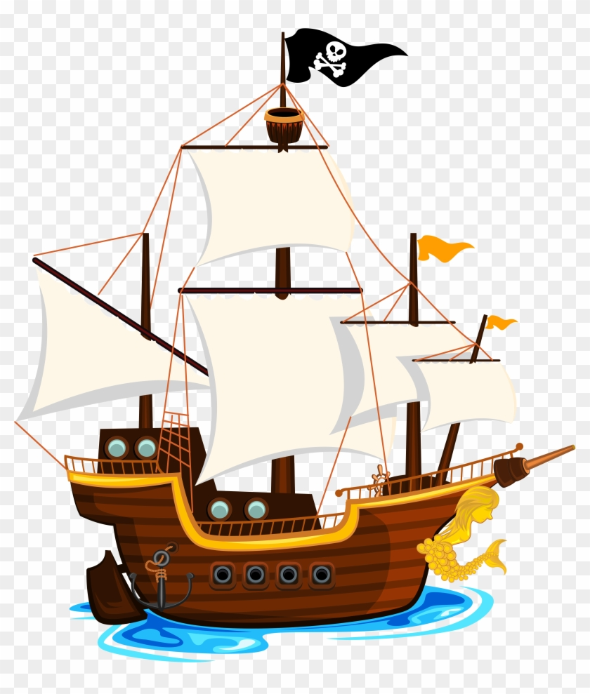 Related Pirate Ship Clipart Png - Pirate Ship Clip Art Png #57154