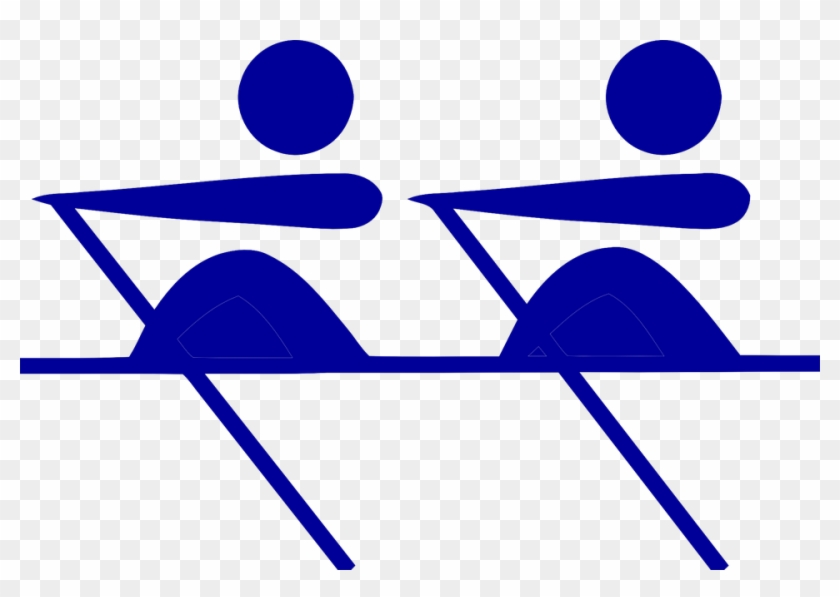 Rowers Symbol Isolated Rowing Sport Boat Water - Rowing Clipart #57176
