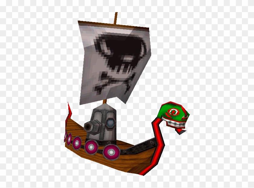 Spirit Tracks Pirate Ship Artwork - The Legend Of Zelda: Spirit Tracks #57204