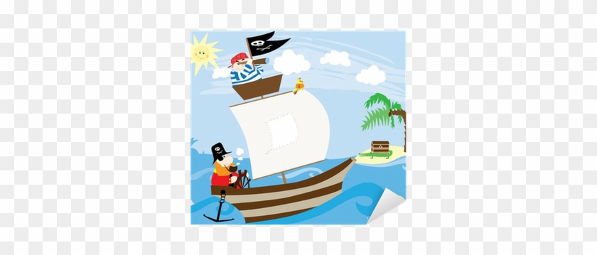 Pirate Ship And Island With Treasure - Pirate #57225