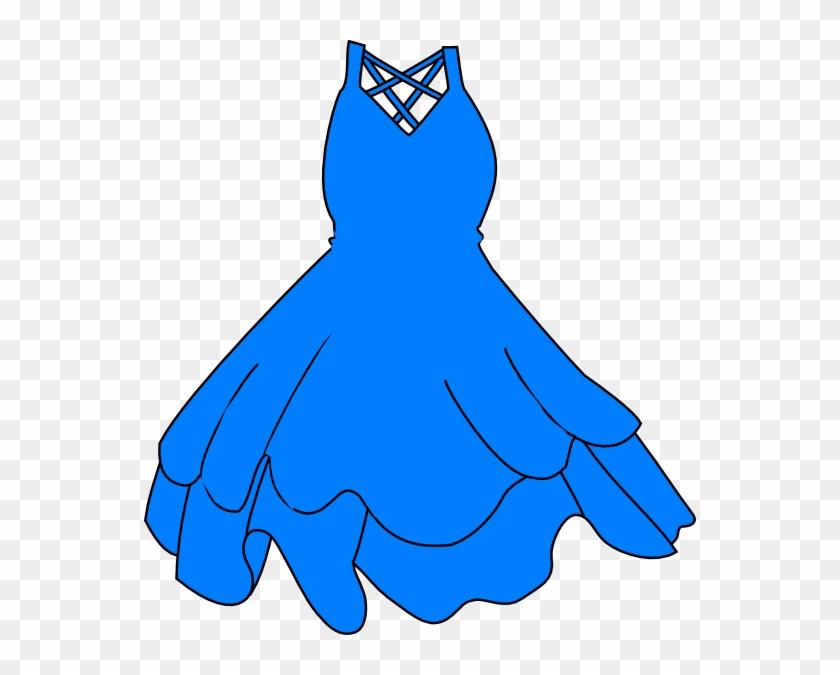 Girl Blue Dress Clipart, Free Girl Blue Dress Clipart - Black Dress Clip Art #57229