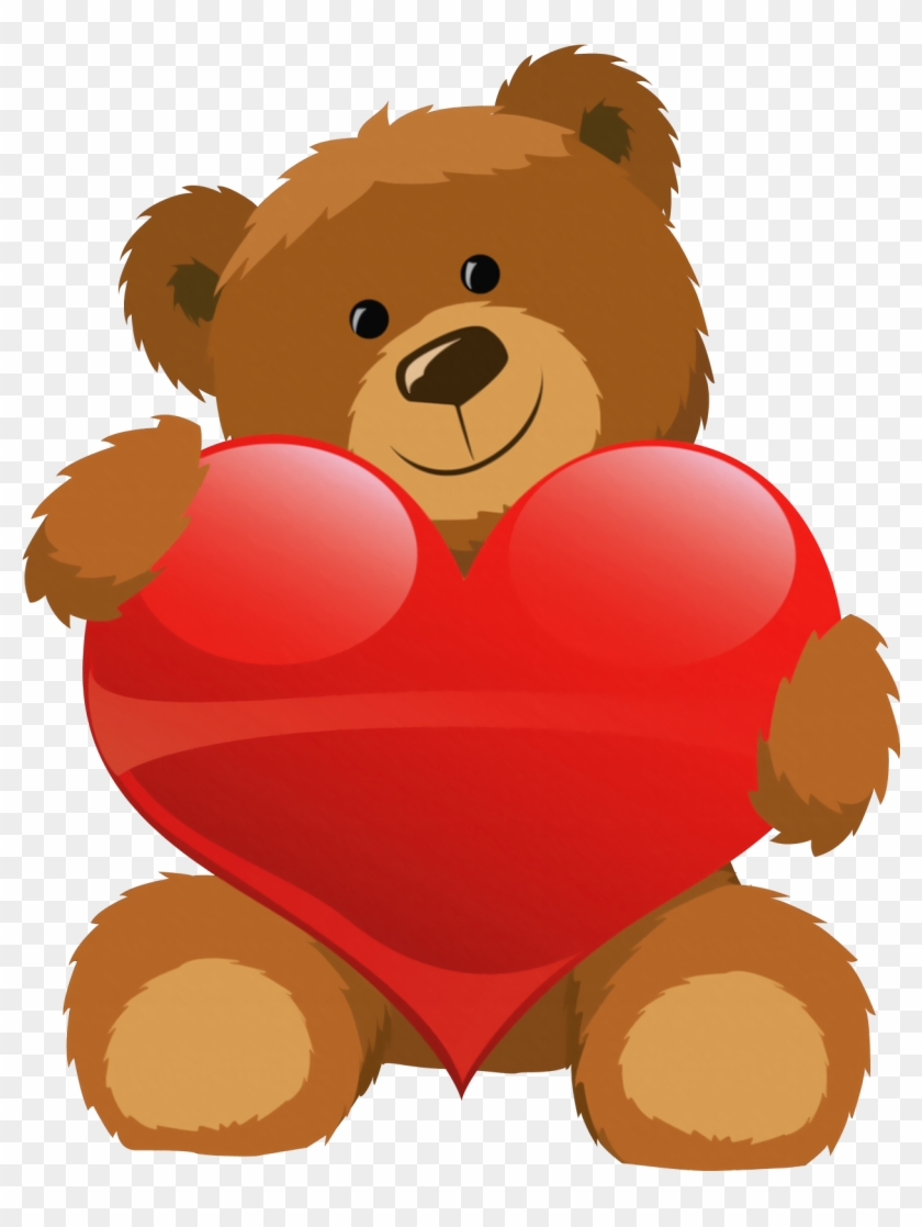 Cute Bear With Heart Png Clipart Picture - Teddy Bear With Heart #57326