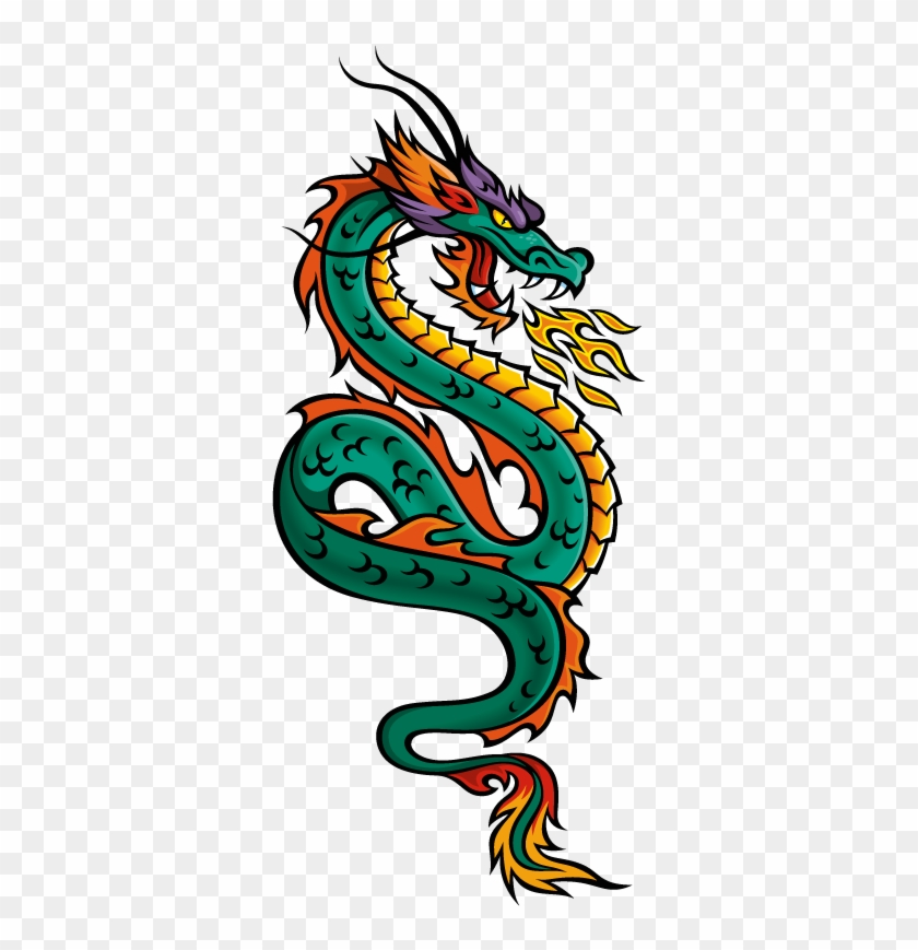 Clip Arts Related To - Chinese Dragon Drawing Colored #57372