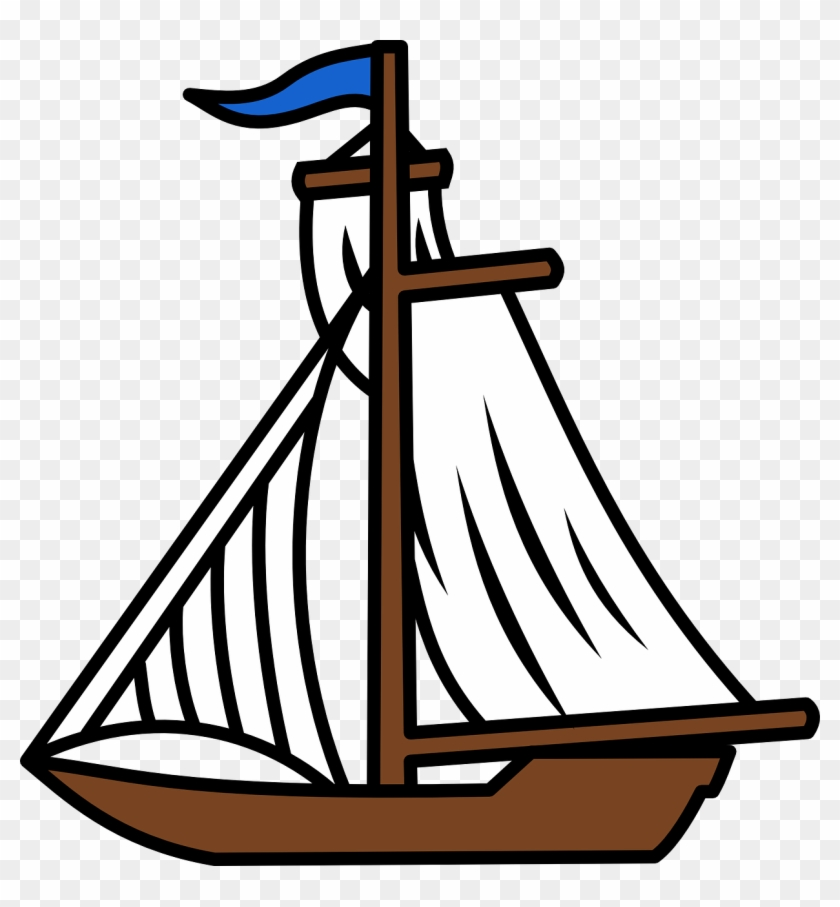 Boat, Sailing, Sails, Sea, Water, Ocean, Transportation - Sail Boat Clip Art #57386