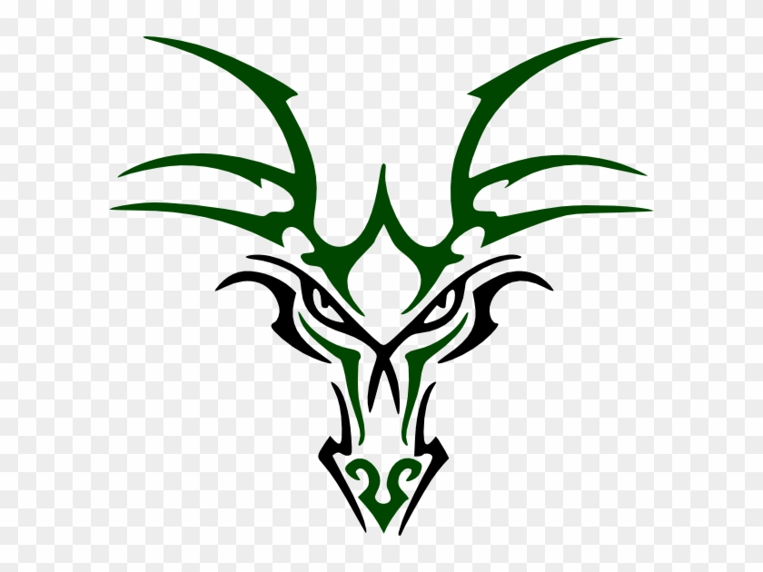 Green Dragon Head Clip Art At Clker Com Vector Clip - Green Dragon Head Logo #57430