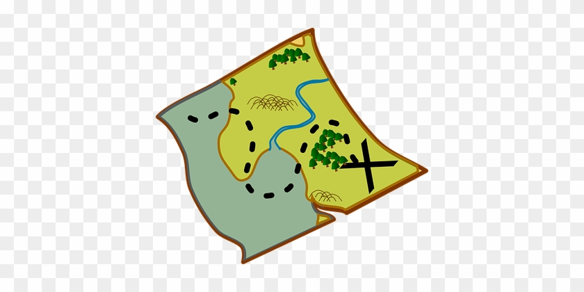 Map Scroll Pirate Treasure Historic Direct - Treasure Map Clip Art #57470