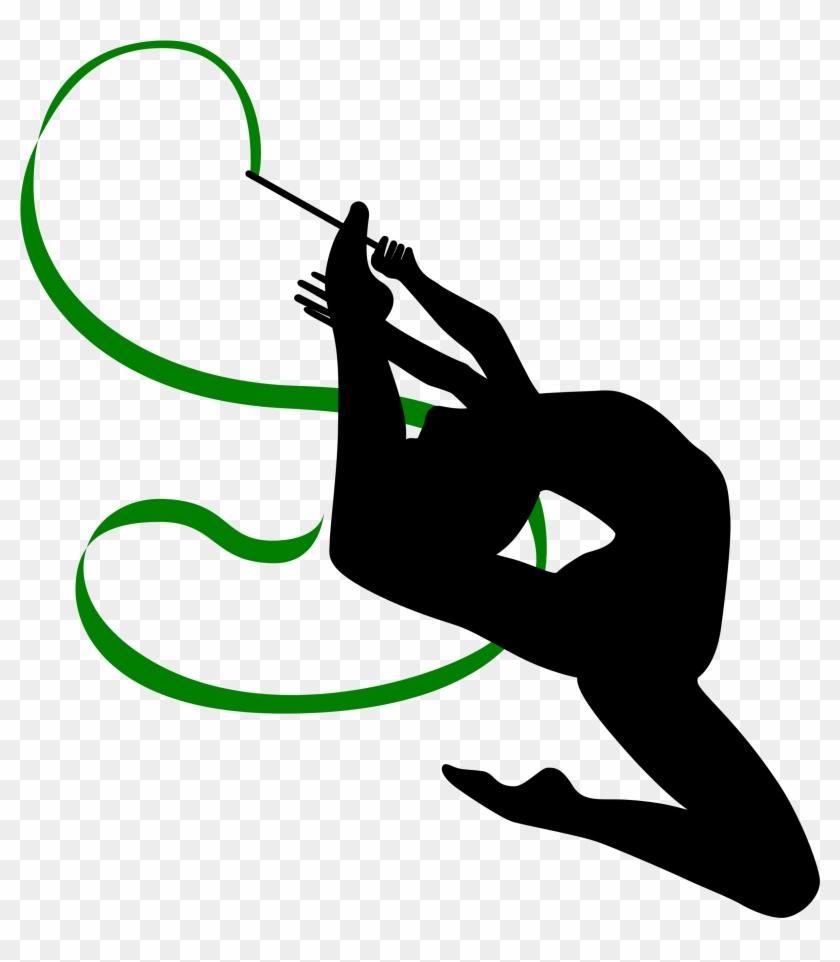 Gymnast Clipart Rhythmic Gymnastics - Rhythmic Gymnastics Ribbon Clip Art #57763