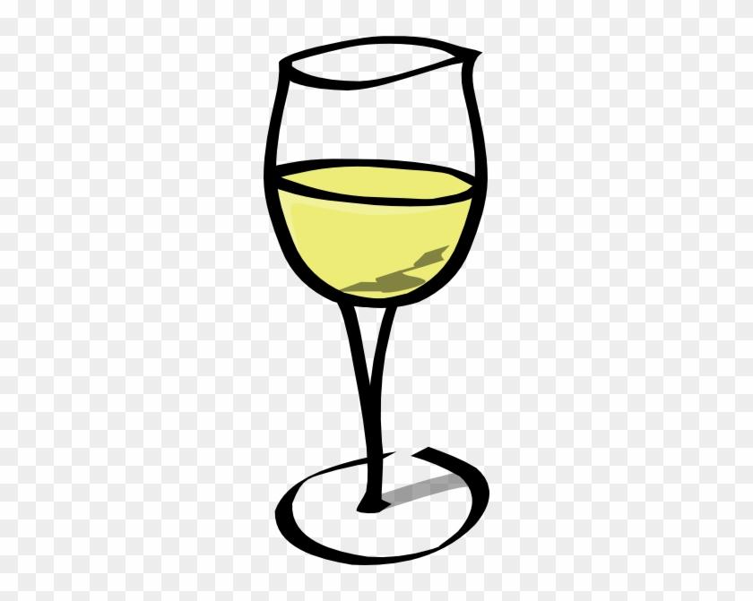 Glass Of White Wine Clip Art At Clker - Wine Glass Clip Art #57844