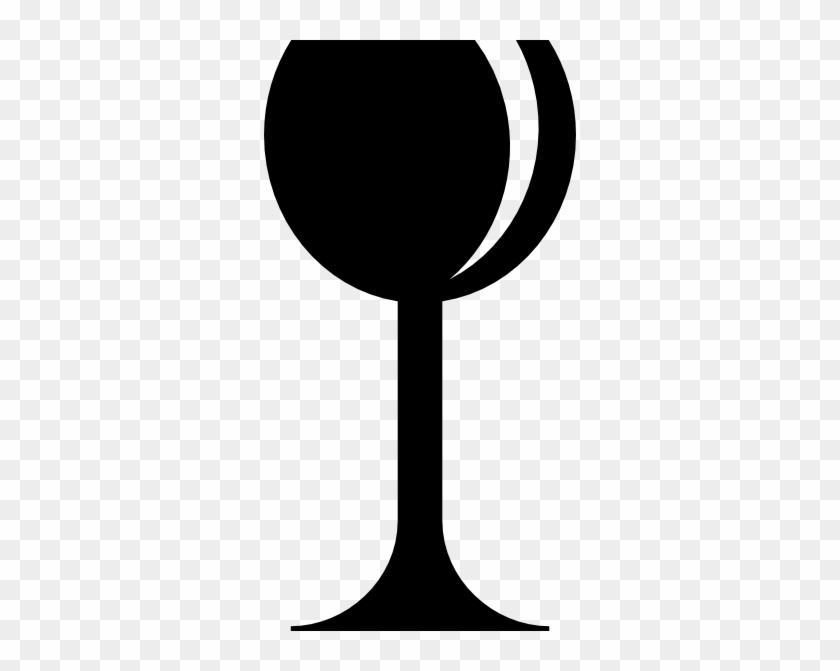 White On Black Wine Glass #57887