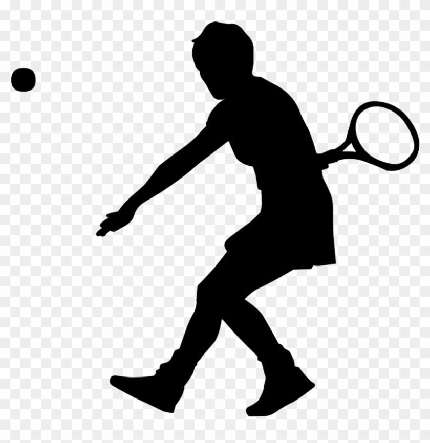 Tennis - Sports Silhouette Clip Art #57960