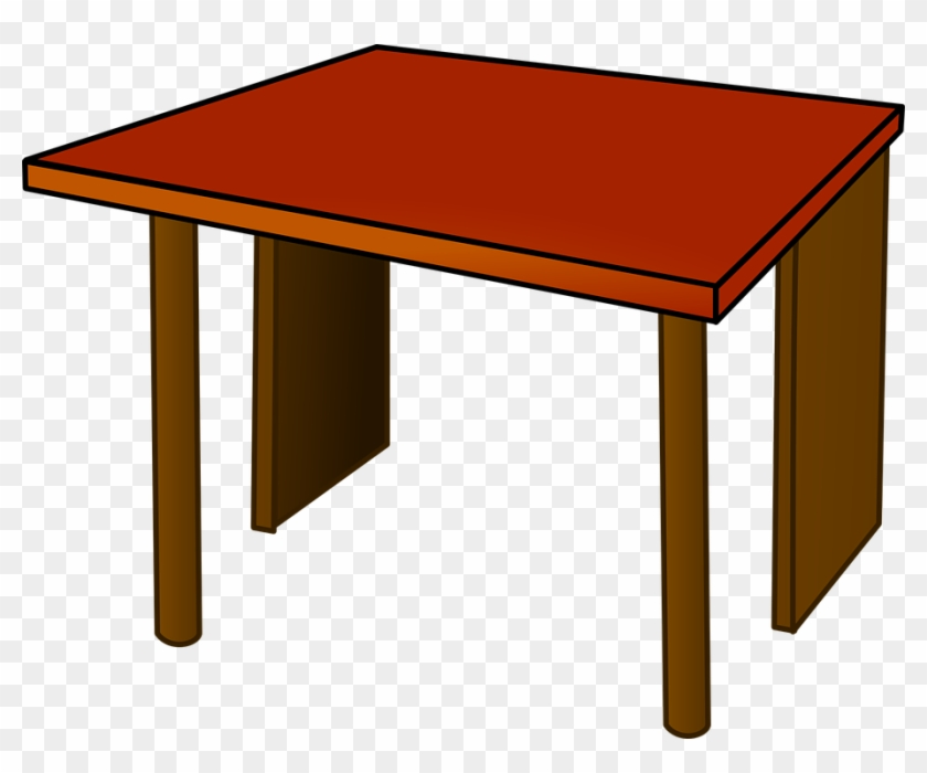 First Class Clipart Table Top Wood Clip Art At Clker - Red Desk Clipart #58381