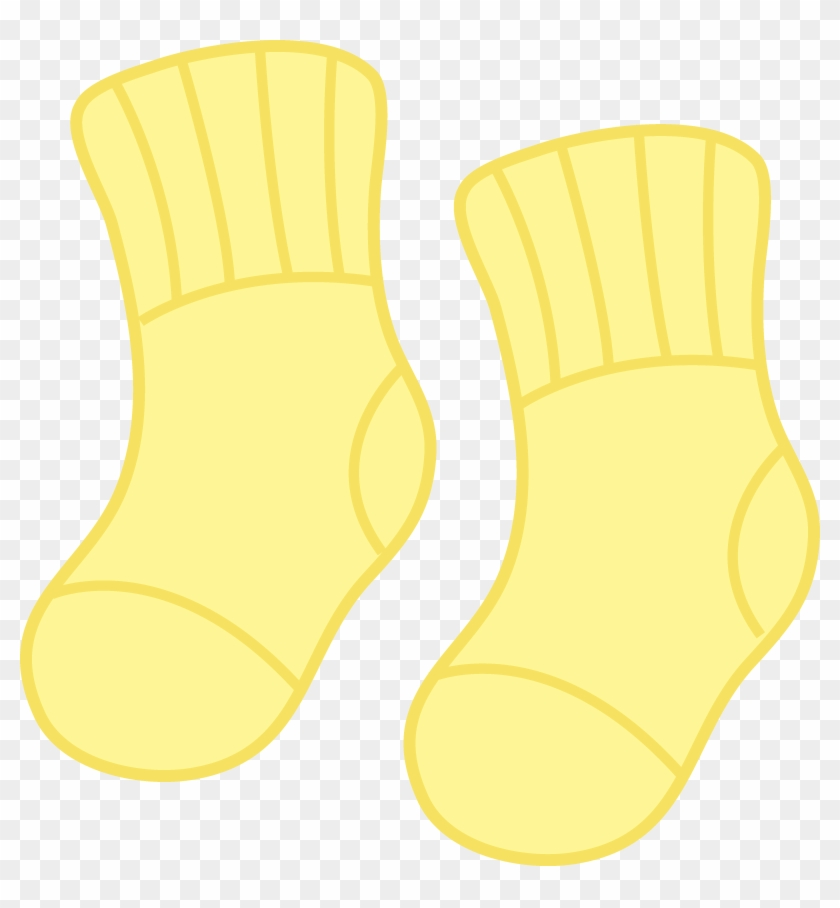 Yellow Baby Socks - Animated Baby Socks #58396