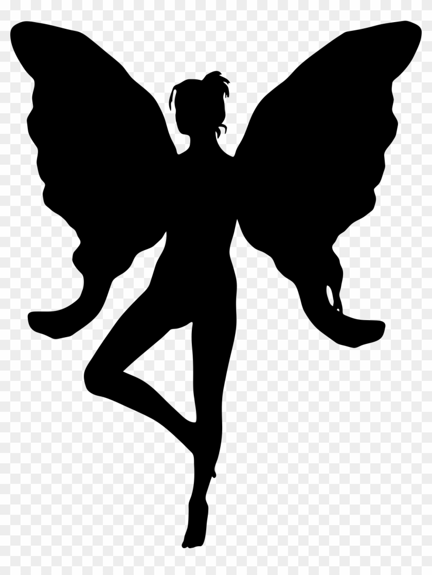 Clipart - Silhouette Of Fairy Wings #58410
