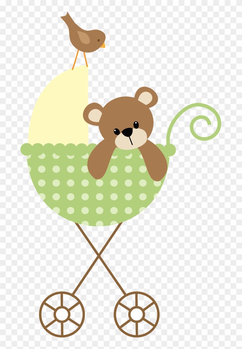 Baby Boy Scrapbook Baby Carriage Baby Cards Clipart Teddy Bear
