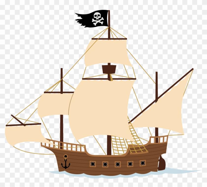 Peter Pan Ship Piracy Clip Art - Pirate Ship Illustration #58460