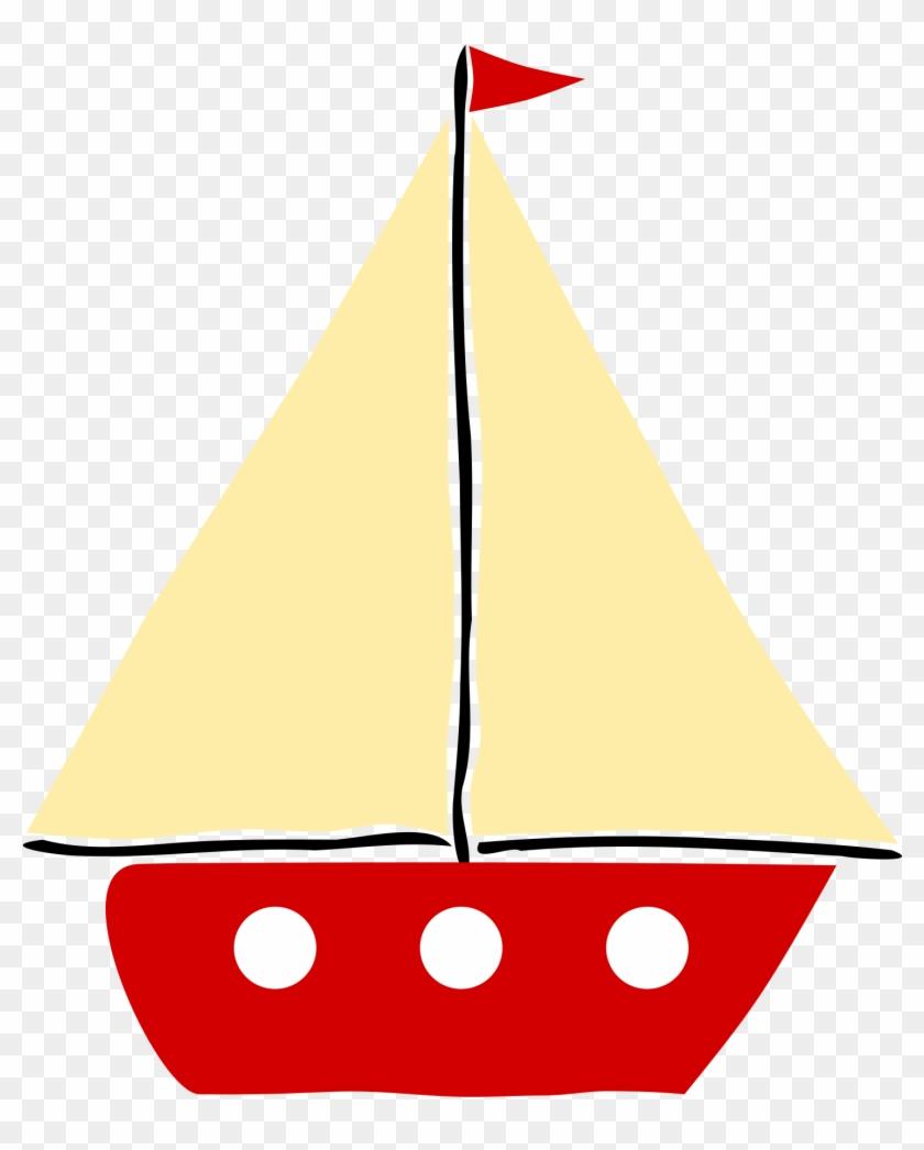 Sail Boat 1 - Clip Art Of Boat #58467