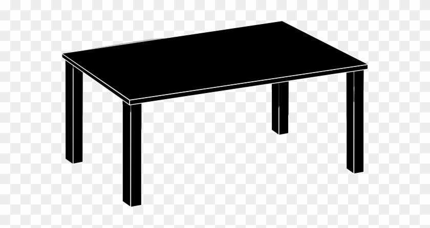 Bookshelf - Clipart - Black - And - White - Black Table Clipart #58514
