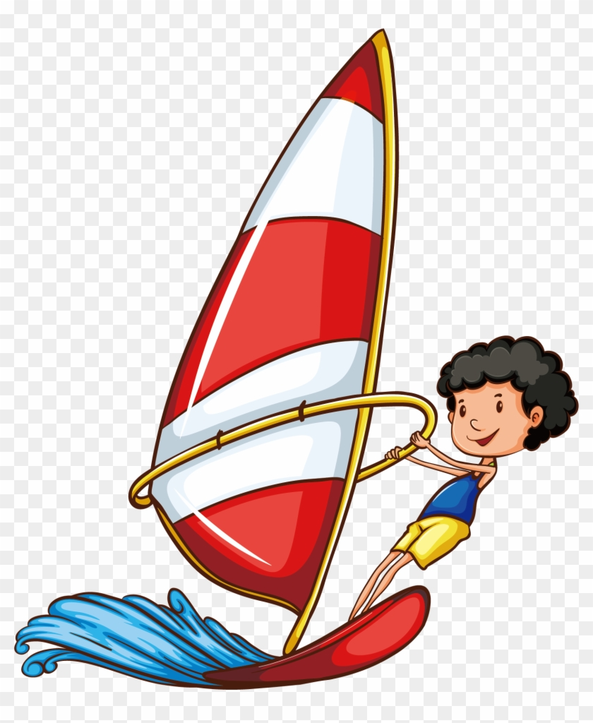 Sport Drawing Water Skiing Clip Art - Sports Word #58525
