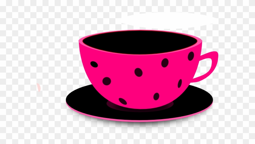 Pinky Tea 2 Clip Art At Clker - Png Pink Coffee Cup #58545