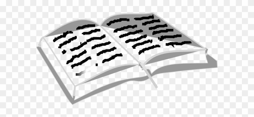 Open Bible With Scriptures Clip Art - Open Bible Clip Art #58623