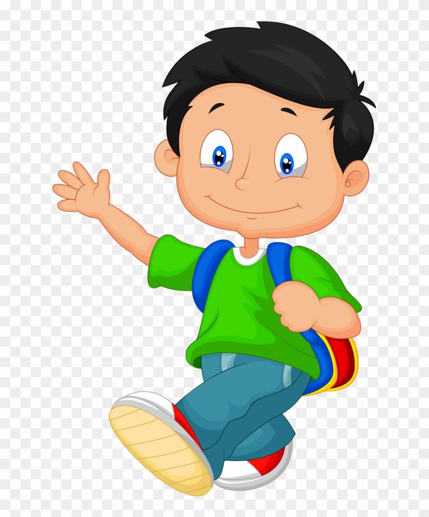 Baby Boys - Cartoon School Boy #58633
