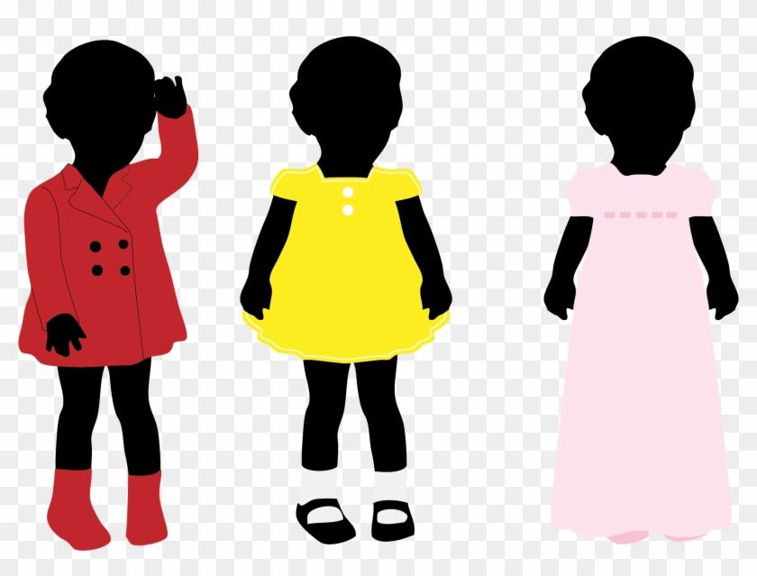 Dresses Silhouette - Little Black Girl Silhouette #58651