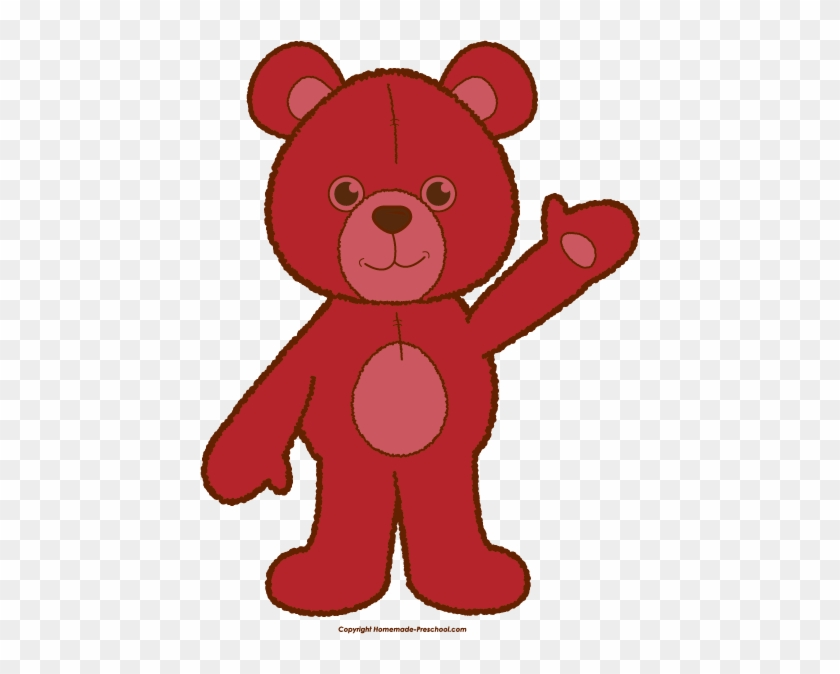 Click To Save Image - Clipart Red Teddy Bear #58887