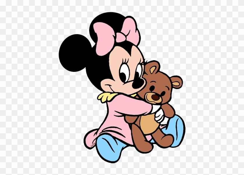 baby minnie cuddling teddy bear desenhos da minnie baby free