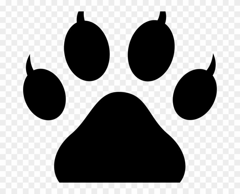 Free Paw Print Dog Paw Print Clip Art Free Download - Paw Print Cat Png #58999