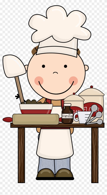 Cooking Clip Art Free Clipart Clipartcow Clipartix - Child Baking Clipart #59038