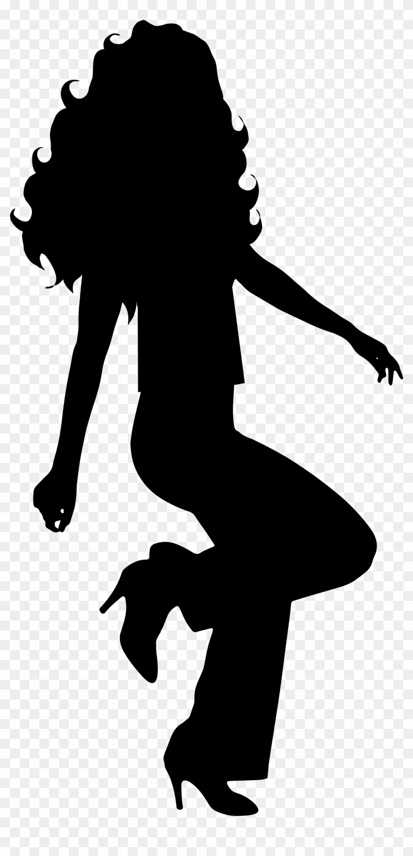 Dancing Girl Silhouette Clip Art #59133