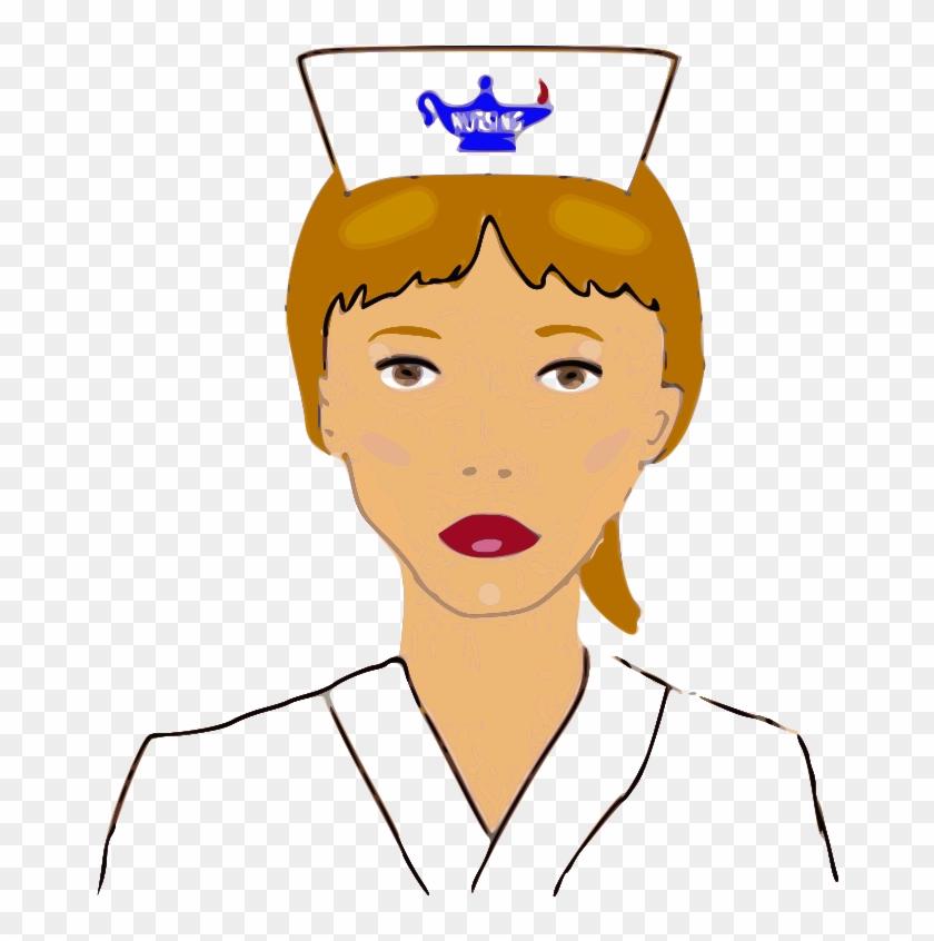 Free Nursing Cap - Outline Of A Nurse #59212