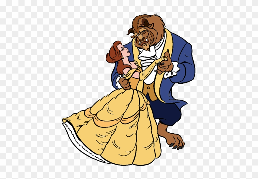 Beast Dancing - Beauty And The Beast Coloring #59239