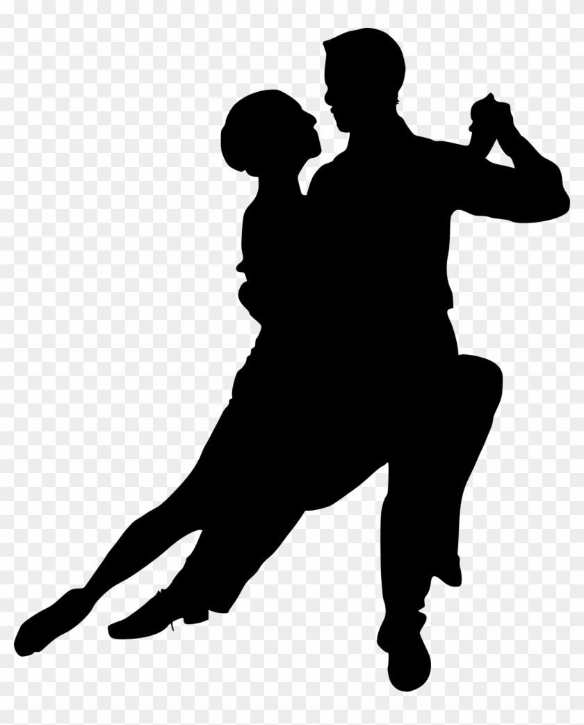 Dance Team Silhouette - Couple Dancing Silhouette Png #59252