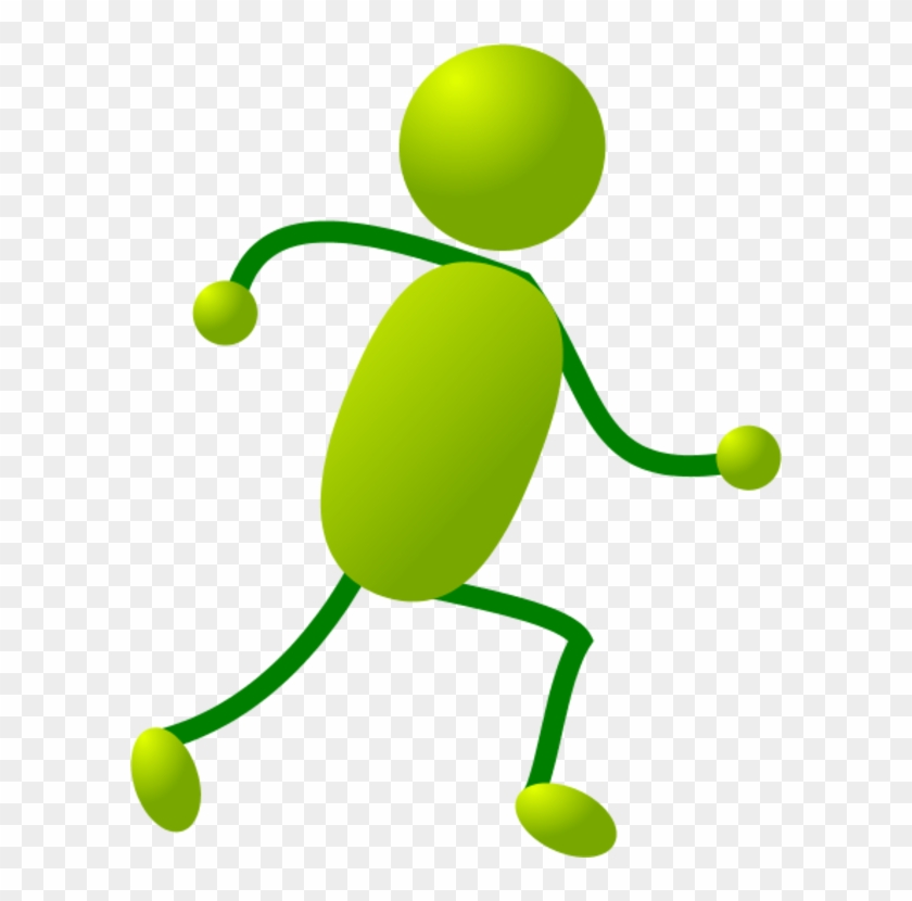 Transparent Cartoon People Dancing Clipart - Stick Man Running #59298