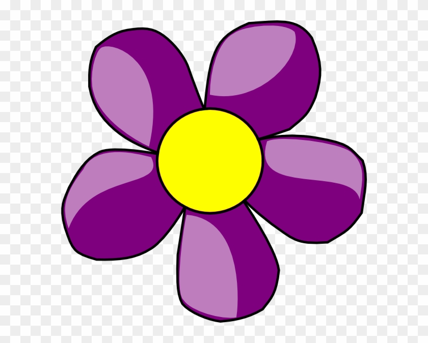 Purple Daisy Clip Art At Clker - Clip Art Flowers Purple #59516