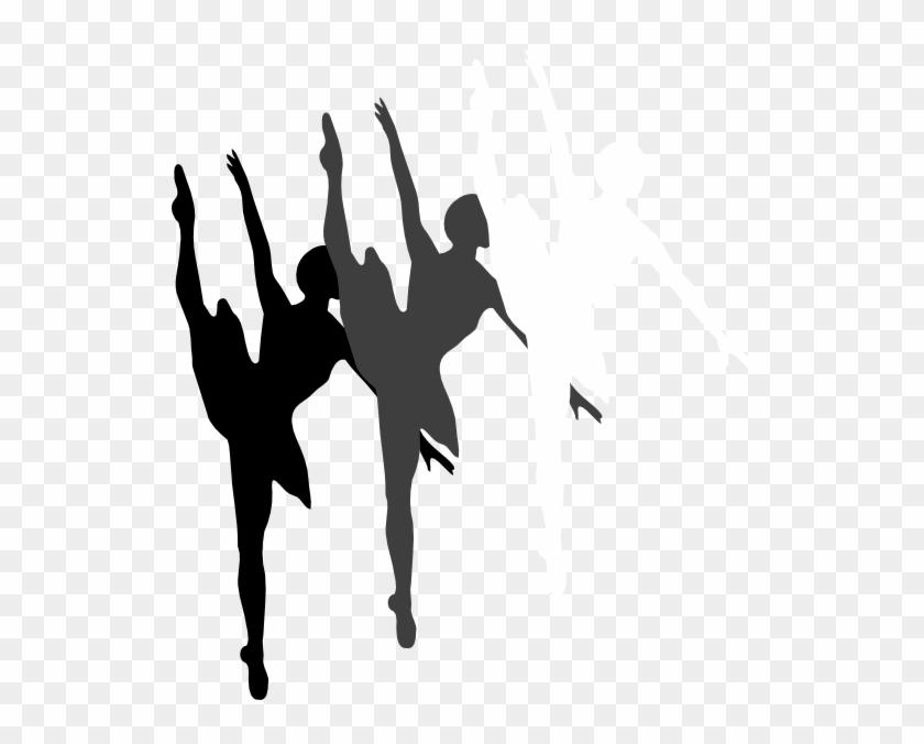 Triple Ballet Dancer Silhouette Clip Art - Ballet Dancer Silhouette #59541
