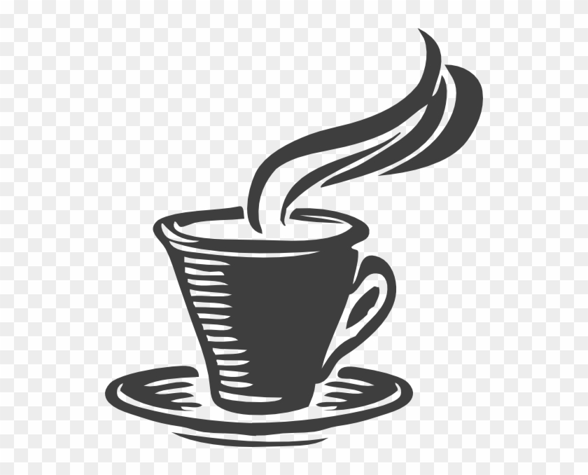 Coffee Mug Clip Art At Clker - Cup Of Tea Black And White #59578