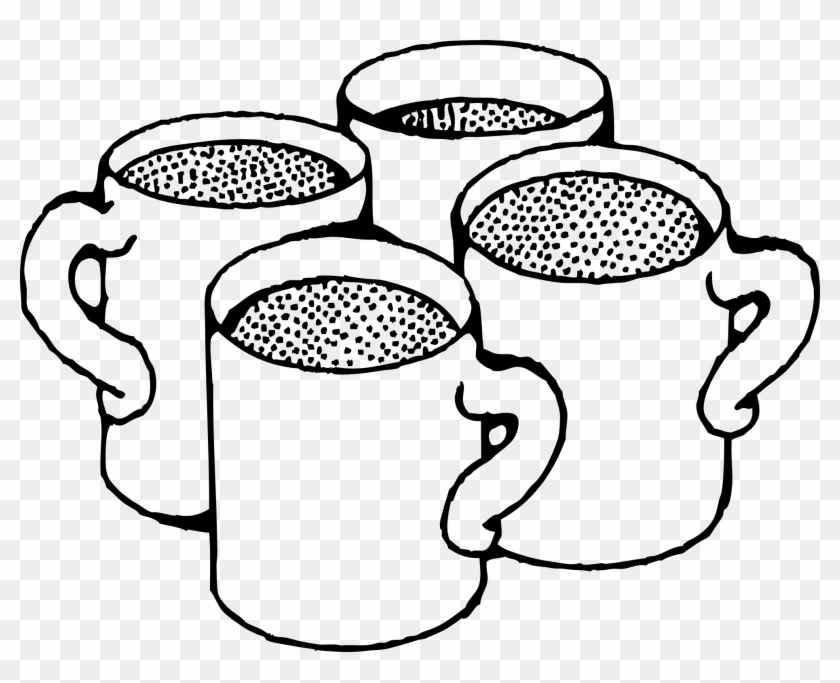 Coffee Cup Black And White Clipart - Coffee Mug Clip Art #59621