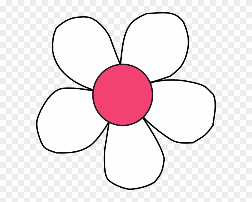 White Pink Daisy - White And Pink Daisy Clip Art #59620