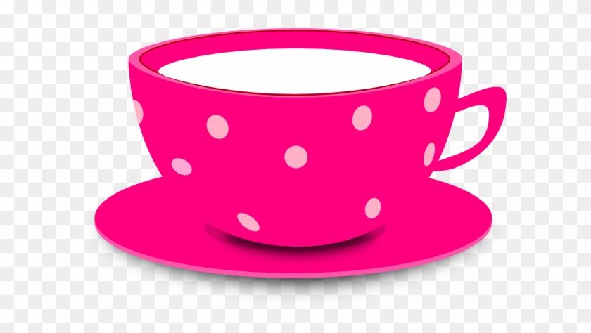 Tea Cup Pink Clip Art At Vector Clip Art - Cute Tea Cup Clipart #59859
