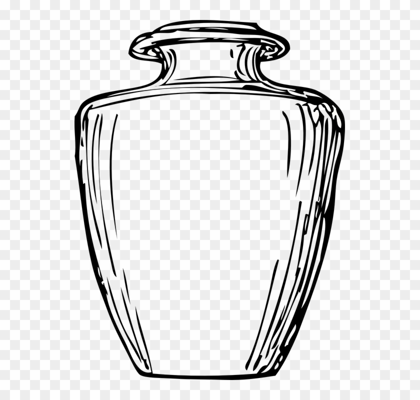 Jar Vessel Greek Vase Amphora Antique Drawing Clay Black And White