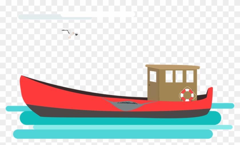 Cutter, Fishing Vessel, Fishing, Shrimp - Fishing Boat Vector Png #59924
