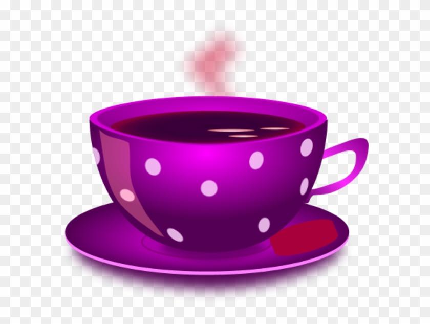 Cup Clipart Purple Tea - Clipart Of Tea Cup #59943