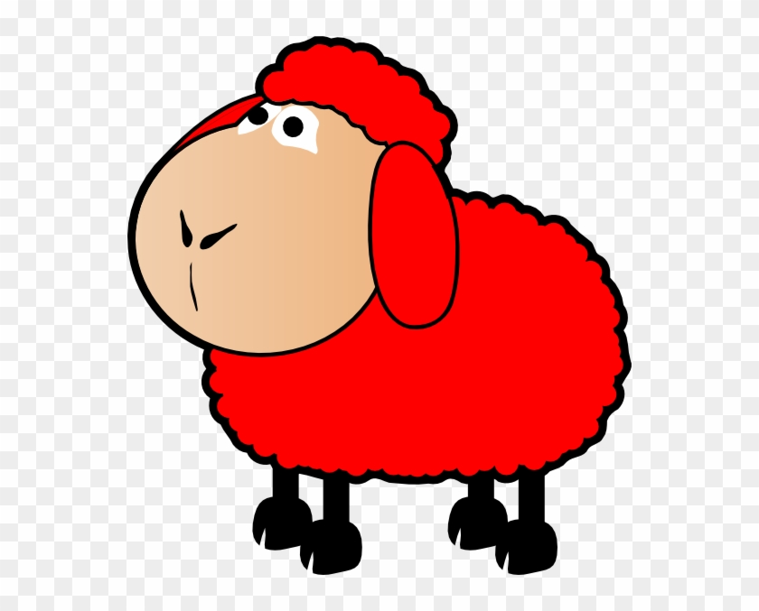 Red Sheep Clipart #60079
