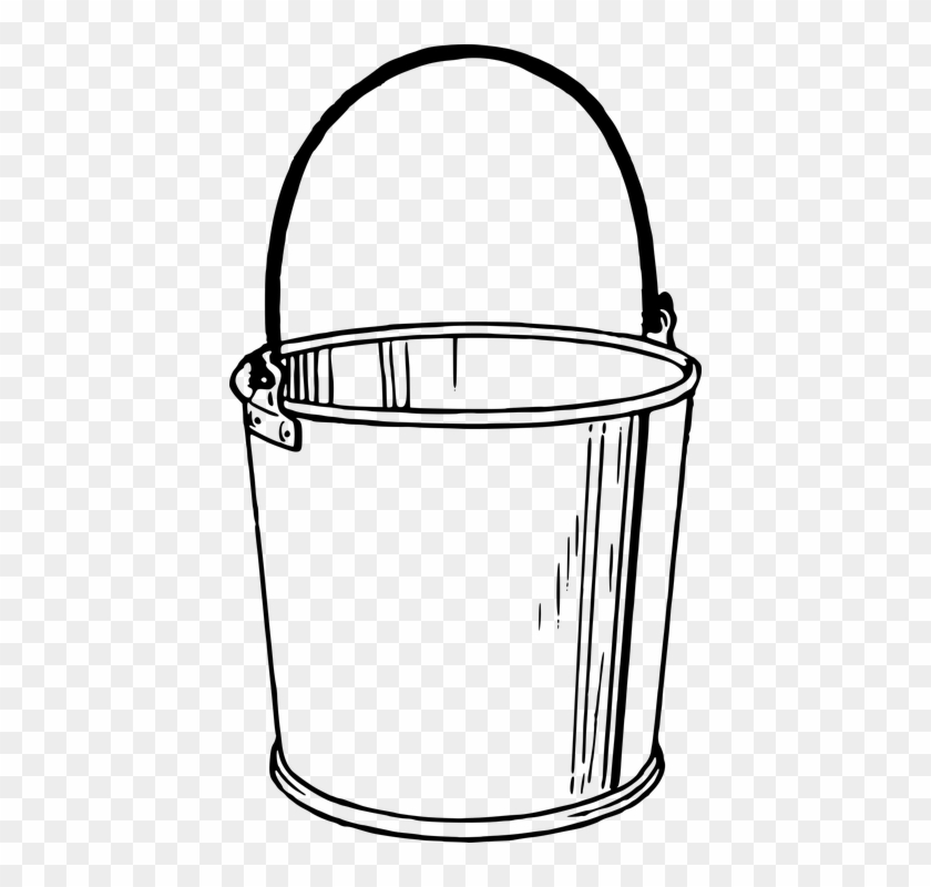 Bucket Container Pail Tool Vessel Water Wa - Bucket Drawing #60119