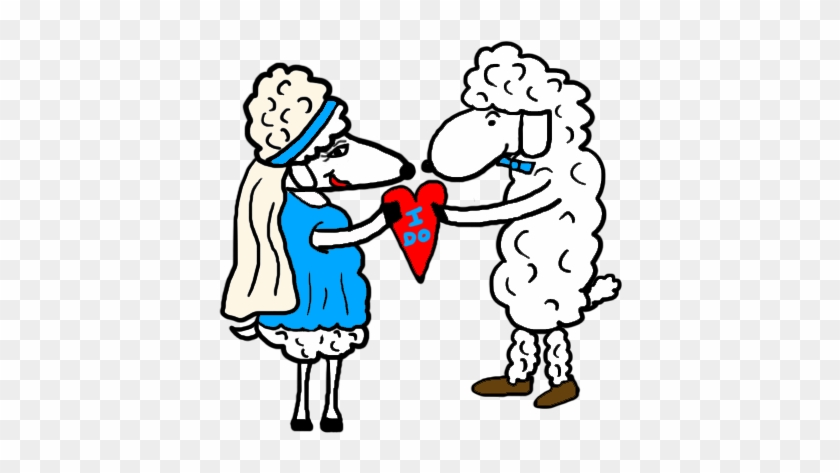 Bride And Groom Clip Art House - Sheep In Wedding Dress #60130
