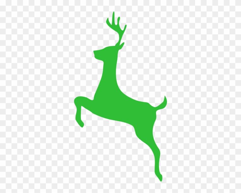 Bright Green Deer Clip Art At Clker - Like Big Bucks Mug #60145