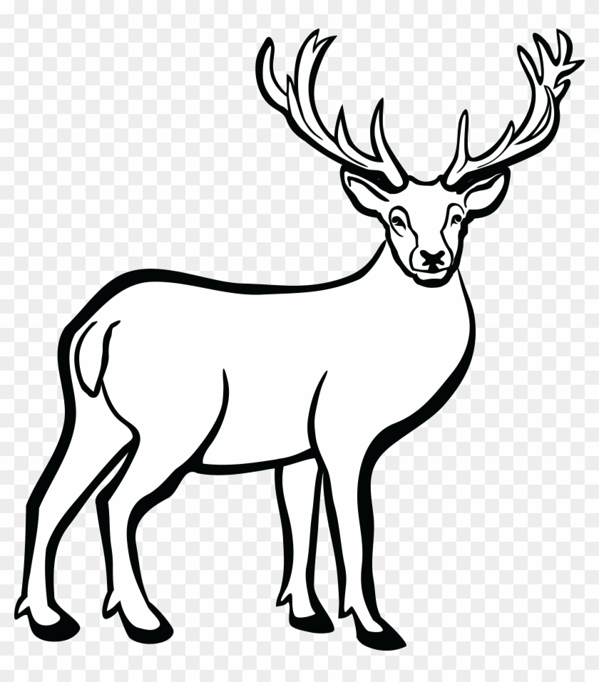 Clipart Of Deer Black And White Clipartxtras - Deer Black And White #60167