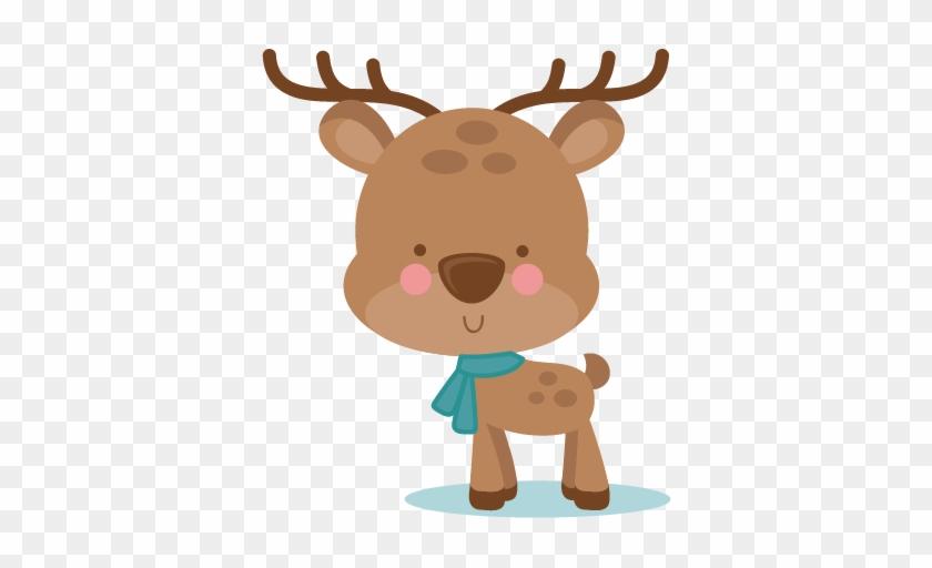Girl Winter Deer Svg Scrapbook Cut File Cute Clipart - Winter Deer Clipart #60169